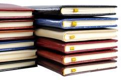 Pile des calendriers de poche Photographie stock libre de droits