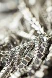 Pile des chaînes argentées assorties Image stock