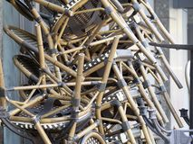 Pile des chaises photo libre de droits