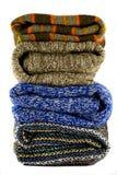 Pile des chandails chauds Photo stock