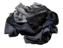 Pile des chaussettes des hommes Photographie stock libre de droits