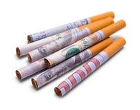 Pile des cigarettes d'argent Photos libres de droits
