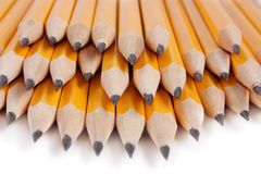 Pile des crayons image stock