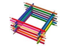 Pile des crayons Image libre de droits