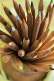 Pile des crayons en bois de couleur Photos stock