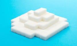 Pile des cubes en sucre images stock