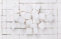 Pile des cubes en sucre photographie stock libre de droits