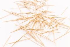 Pile des cure-dents en bois Image libre de droits