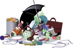 Pile des déchets illustration libre de droits