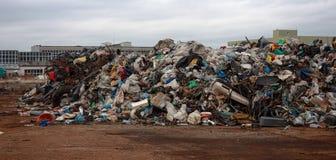 Pile des déchets du plastique photo libre de droits