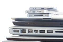Pile des dispositifs photo stock