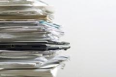 Pile des documents Photographie stock
