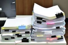 Pile des documents Image libre de droits