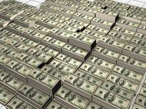 Pile des dollars Images libres de droits