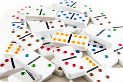 Pile des dominos Images stock