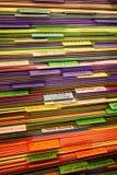Pile des fichiers Photographie stock