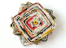 Pile des fonds de verre faits de revues Image stock