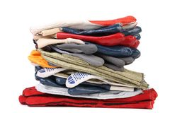 Pile des gants protecteurs Photographie stock