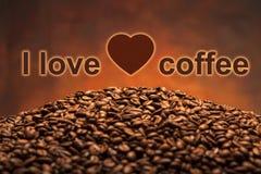 Pile des grains de café Photos libres de droits