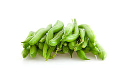 Pile des haricots verts crus Photo stock