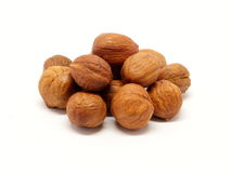 Pile des hzelnuts - détail photos libres de droits