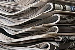 Pile des journaux Photographie stock
