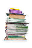 Pile des livres et de l'écolier de carnets Photo stock