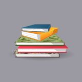 Pile des livres Illustration de vecteur Photographie stock libre de droits