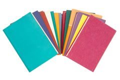 Pile des livres multicolores, groupe de livres multicolores, tas o Image stock