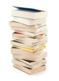 Pile des livres nouveaux - chemin de coupure Image libre de droits