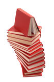 Pile des livres rouges Photographie stock