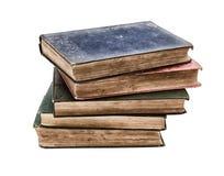 Pile des livres très vieux Image stock