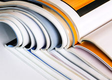 Pile des magazines Photographie stock