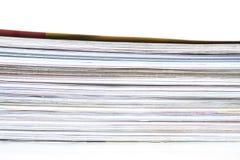 Pile des magazines Photographie stock libre de droits
