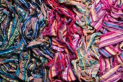 Pile des modèles colorés Photos libres de droits
