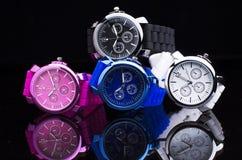 Pile des montres-bracelet Photos stock