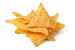 Pile des nachos image libre de droits