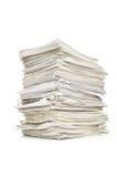 Pile des papiers Image stock