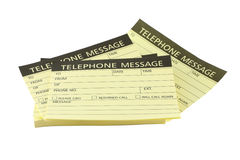 Pile des papiers de message téléphonique Photographie stock