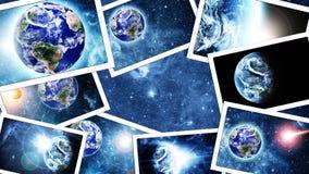 Pile des photos de l'espace image libre de droits