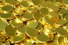 Pile des pièces d'or Photographie stock