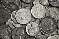 Pile des pièces de monnaie Photographie stock libre de droits