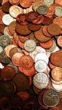 Pile des pièces de monnaie Image libre de droits