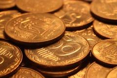 Pile des pièces de monnaie Photos stock