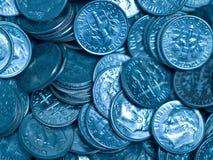 Pile des pièces de monnaie des Etats-Unis Images libres de droits