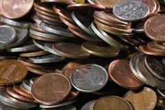 Pile des pièces de monnaie des USA images libres de droits