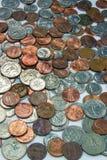 Pile des pièces de monnaie des USA Photo stock