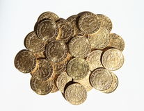 Pile des pièces de monnaie - groschen de Prague Images libres de droits