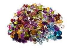 Pile des pierres gemmes desserrées Image libre de droits