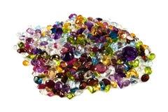 Pile des pierres gemmes desserrées Image stock
